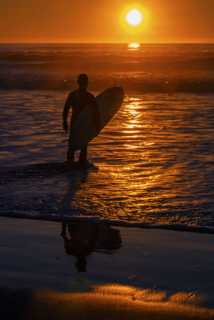 Sunset Surfer in S.F.